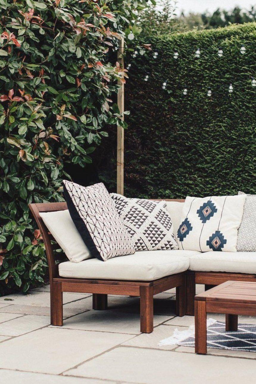 Geometric cushions on Ikea Applaro seating # in 9  Geometric