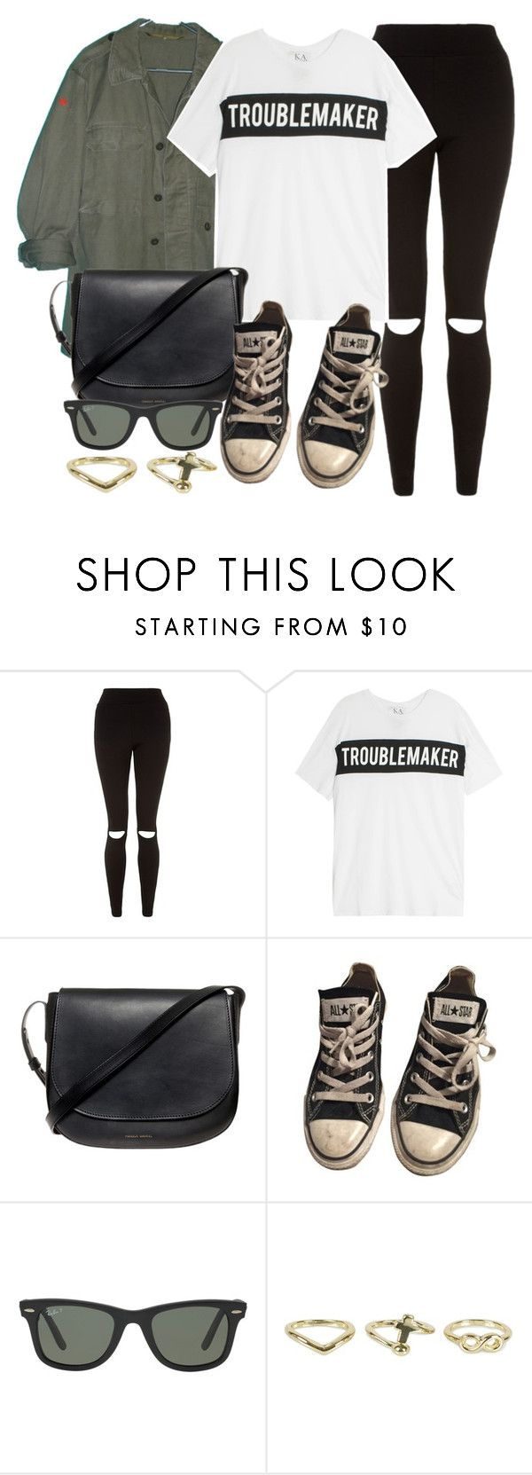 """Style #11243"" by vany-alvarado ❤ liked on Polyvore featuring Zoe Karssen, Mansur Gavriel, Converse, Ray-Ban and NLY Accessories"