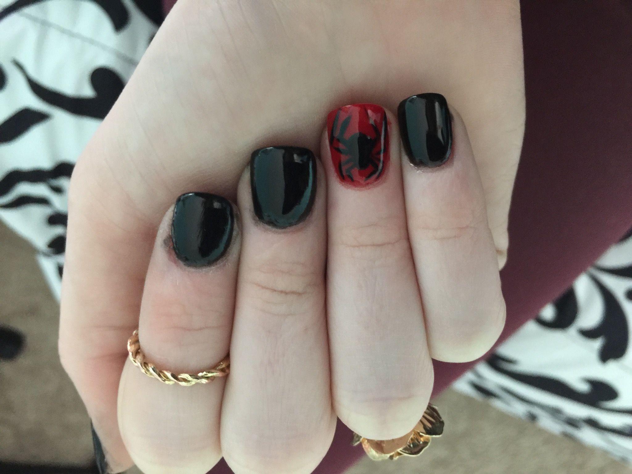 Spiderman halloween nails Nexgen nails | Nails | Pinterest | Kawaii ...