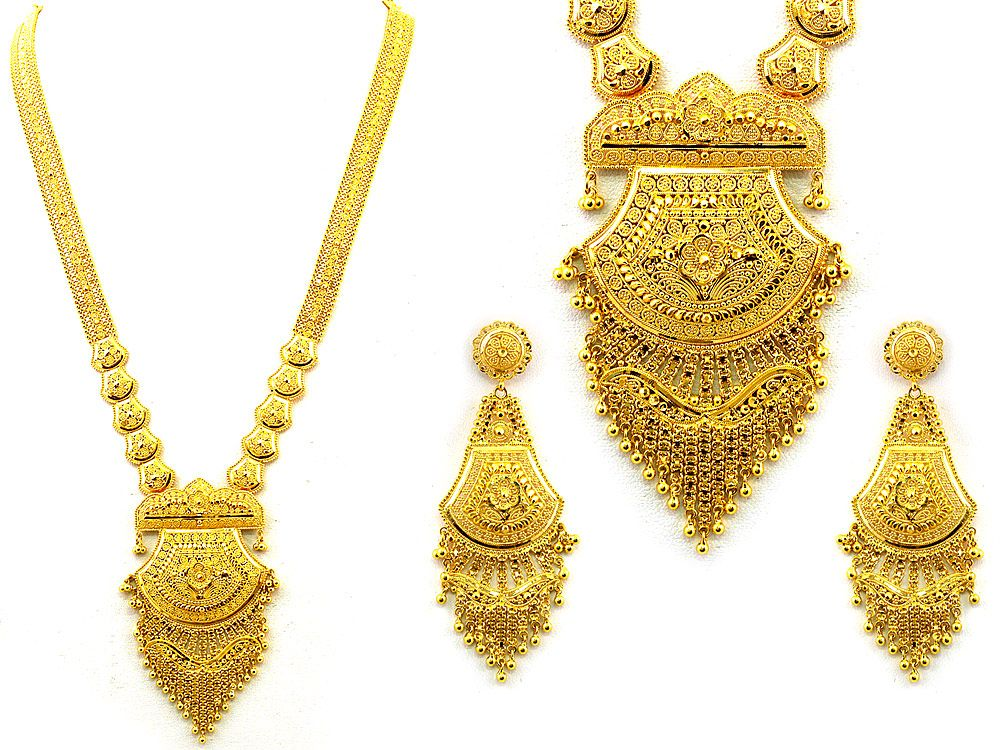 Gold Necklace Set Indian Jewelry Visit Store Price | body language ...