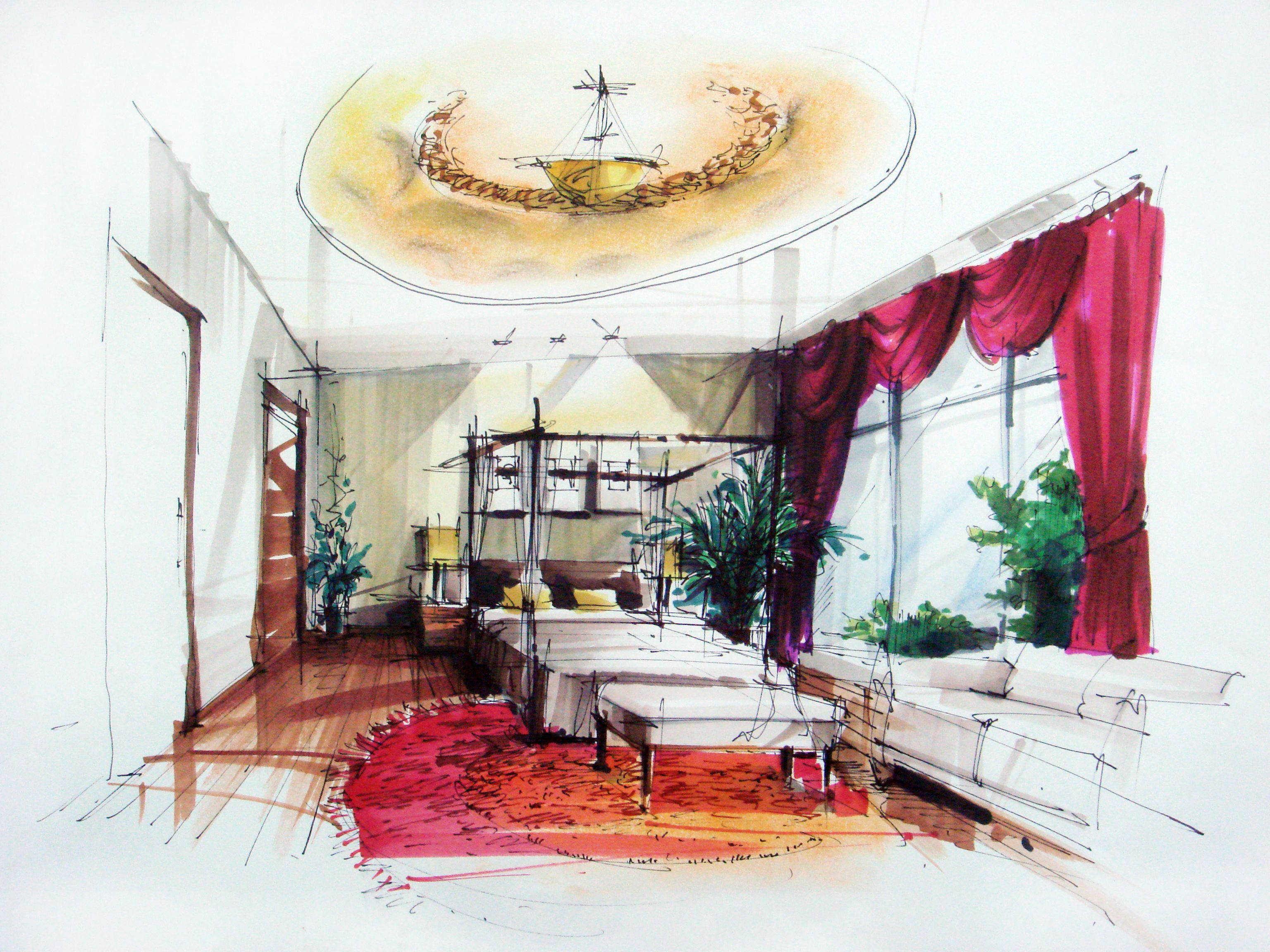 interior design drawings  Google Search  Interior design  Interior design sketches Interior