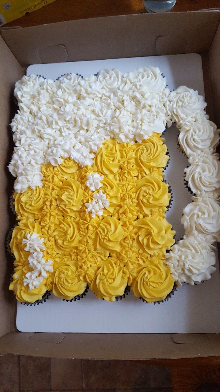 Beer Mug B Day Cupcake Cake
