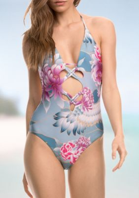 f56730d161 Isabella Rose Multi Birds of a Feather Strappy One Piece Swimsuit