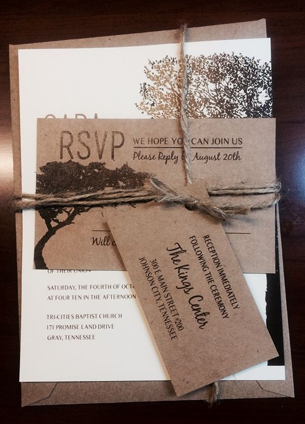 Oak Tree Wedding Invitations on Behance | Future Ideas | Pinterest ...