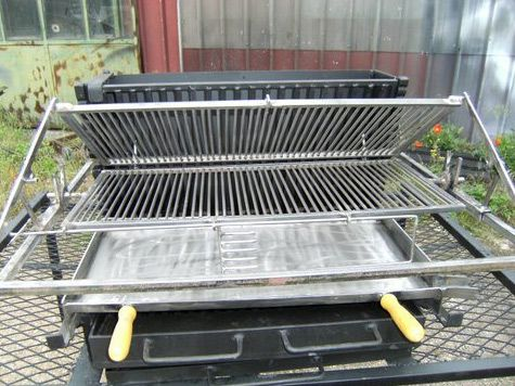 Vente Barbecue Gril Vertical  Bbq En Fer Forg Fabrication