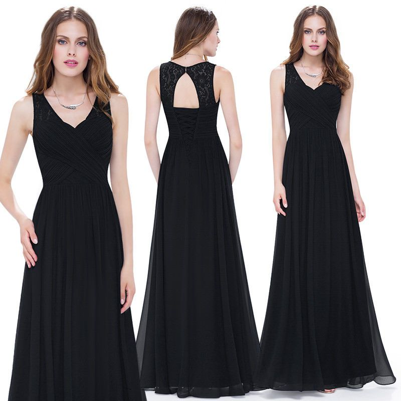 US Plus Size Long V-neck Formal Gown Cocktail Party Evening Prom Dresses 09016