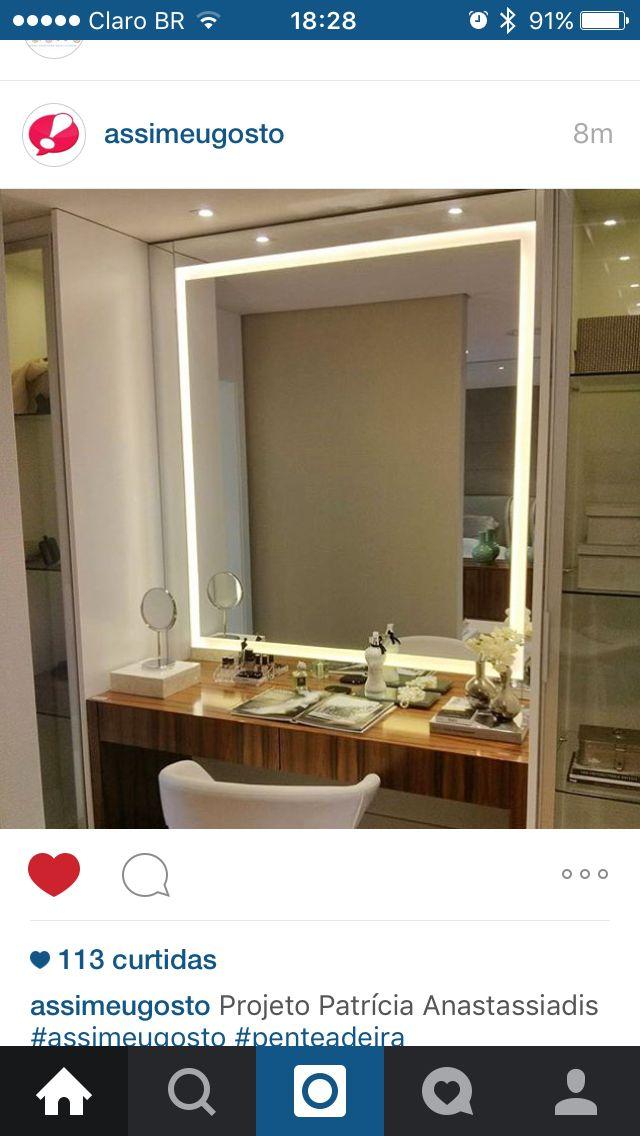 Penteadeira Espelho Iluminado Com Imagens Espelhos Com Led