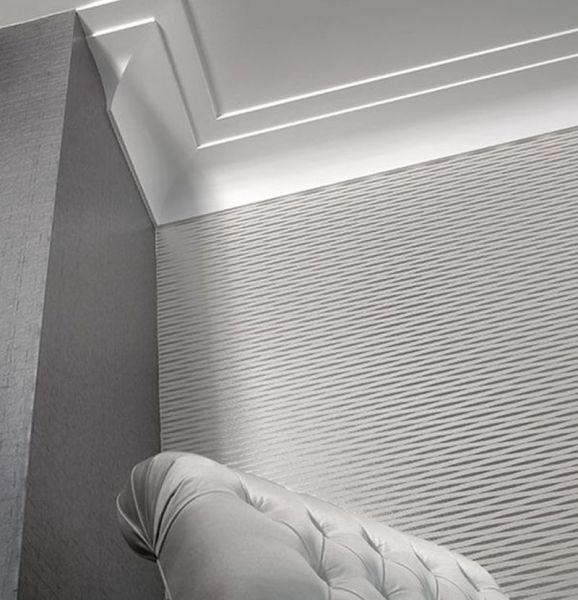 Wohnen Mit Stuckleisten Und Dekorativen Zierprofilen Stuckleisten Wandgestaltung Fussleisten