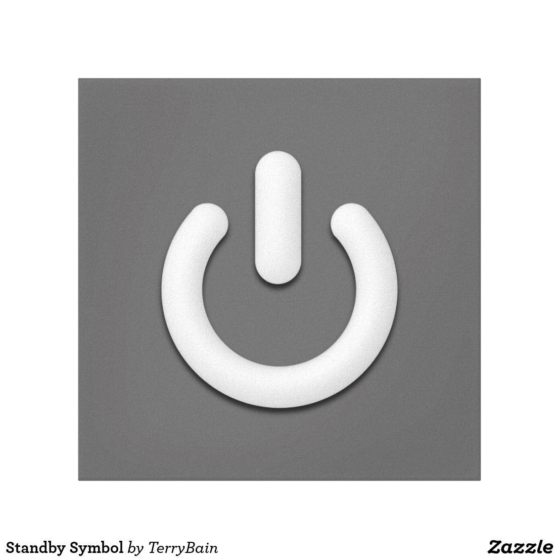 Symbol canvas print standby symbol canvas print biocorpaavc