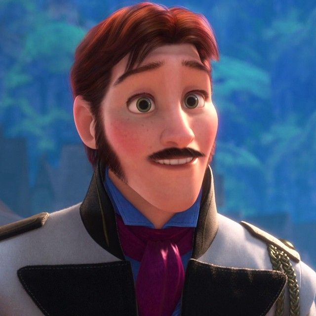 Hans with a mustache