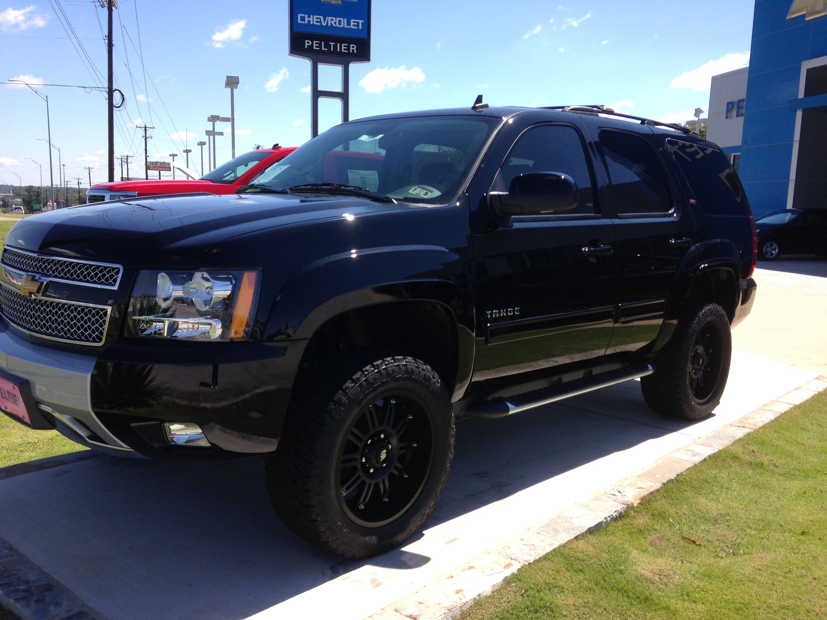 Awesome Lifted Black Z71 Tahoe I Want This All Things Bell
