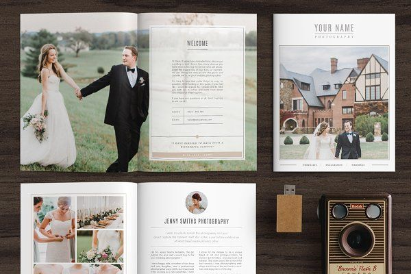 Wedding Magazine Template MG001 by Bellenity Design on