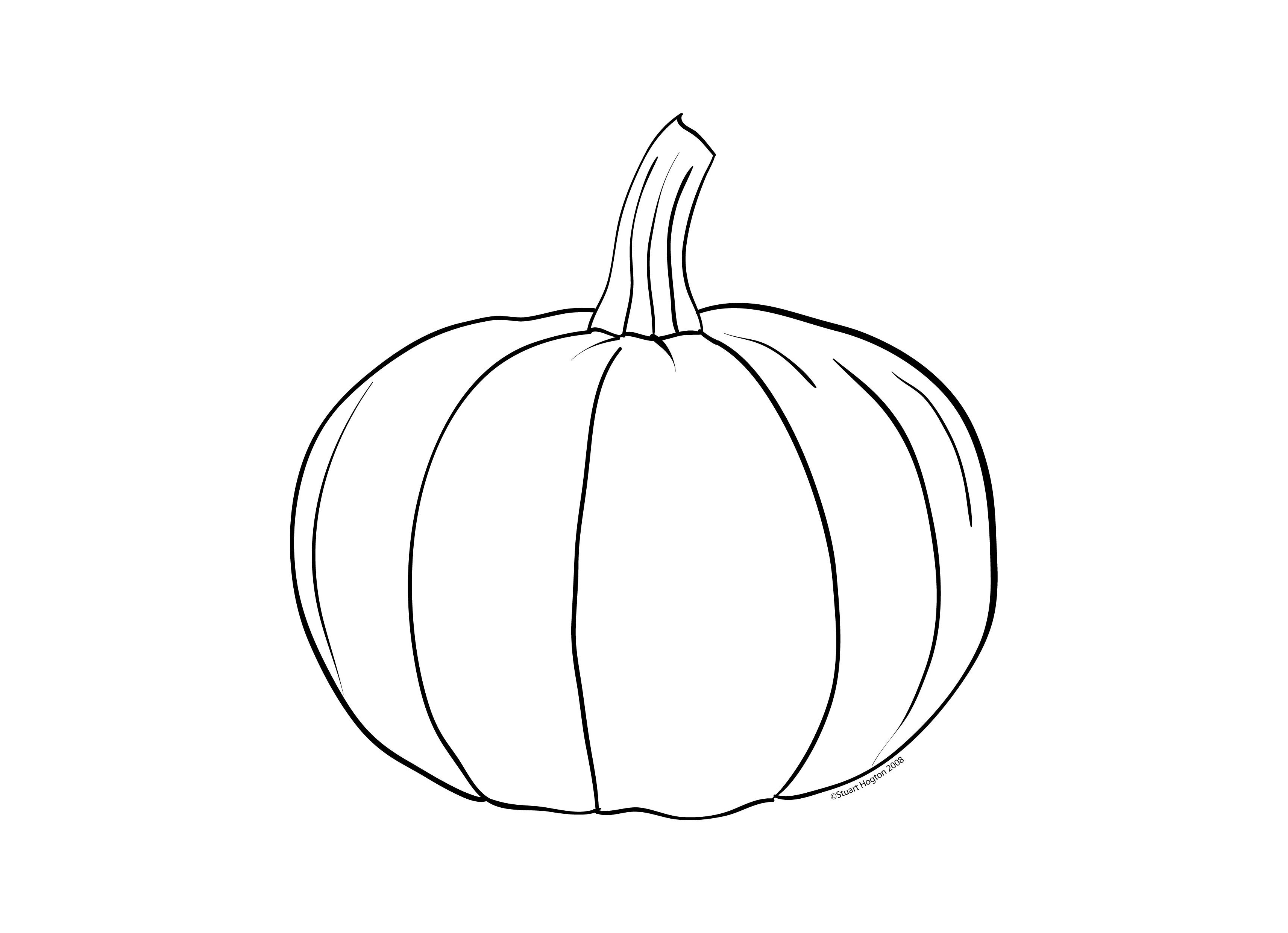 Pumpkin Pattern Coloring Page Printable