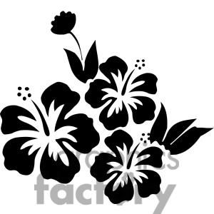 Hibiscus Flower Clipart Royalty Free Clipart 380147 Stencil