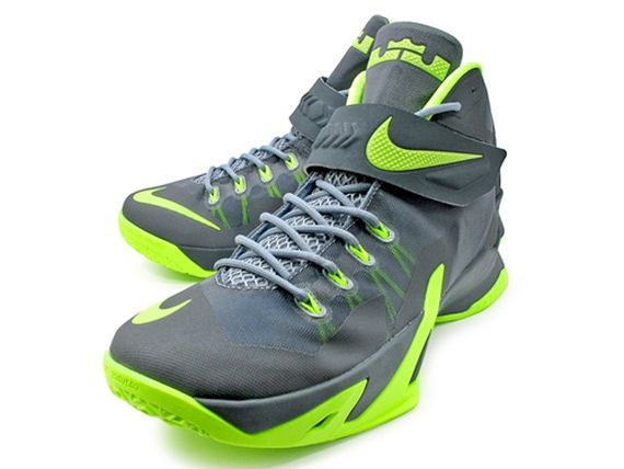 542448d509b8 Nike LeBron Soldier 8 - Grey - Volt - SneakerNews.com