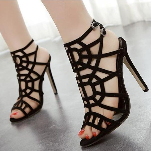 1bd16f5068ac Fashion was redefined as frivolous and feminine and the high heel became a  potent accessory of ditsy desirability  Icohunt  shoestores  highheels   sandals ...