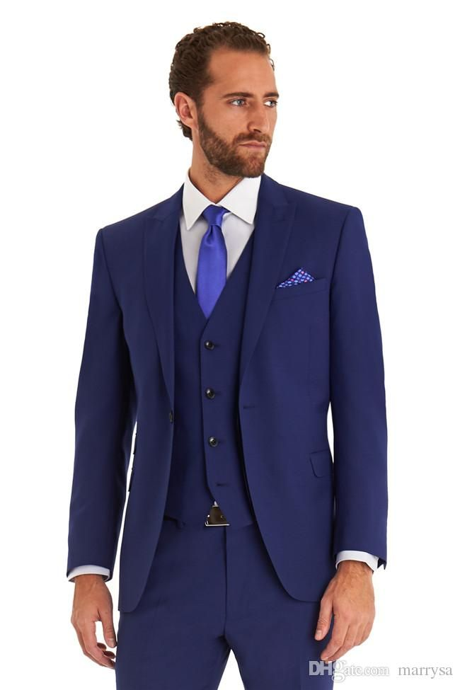 Groom Tuxedos Best Man Suit Wedding Groomsmen Bridegroom Suits Mens ...