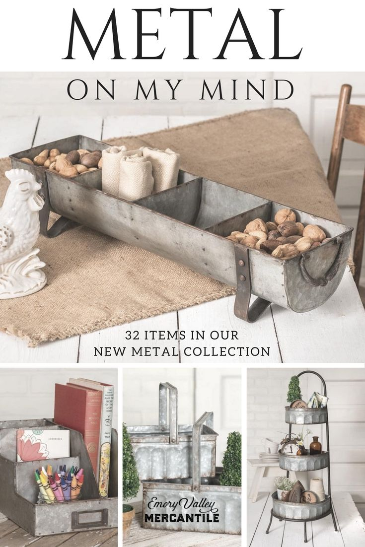 f03b2b42912 LOVE all of these farmhouse style metal accessories!  farmhousedecor   farmhousestyle  metaldecor  homedecor