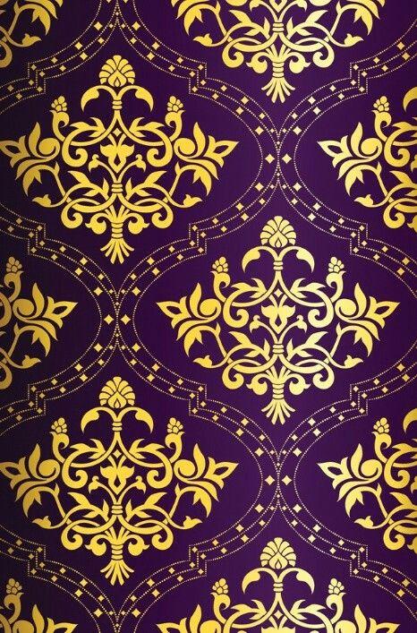 Gold Purple Wallpaper Home Improvement Purple Gold Wallpaper