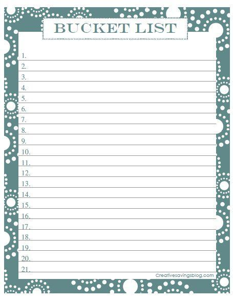 Bucket List Other Pinterest Craft   Blank Roster  Blank Roster