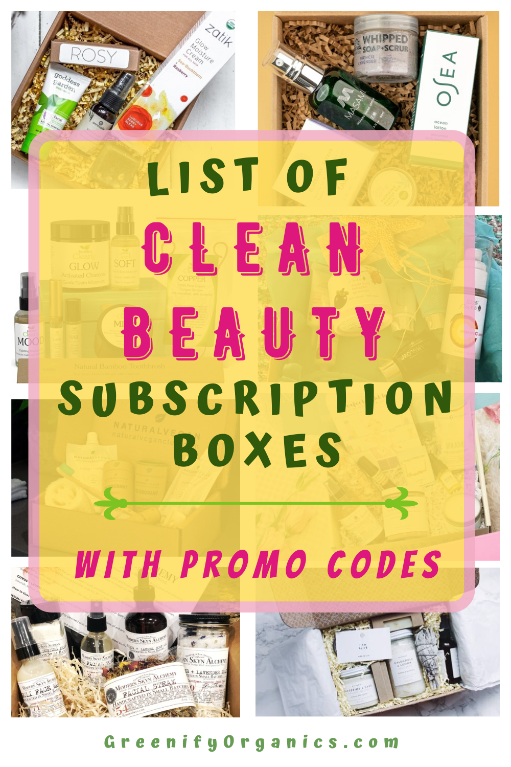 Best Clean Beauty Subscription Boxes With Promo Codes! in