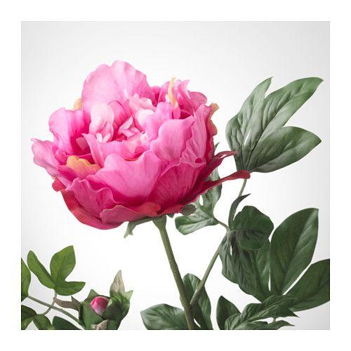 smycka artificial flower peony dark pink decor design. Black Bedroom Furniture Sets. Home Design Ideas
