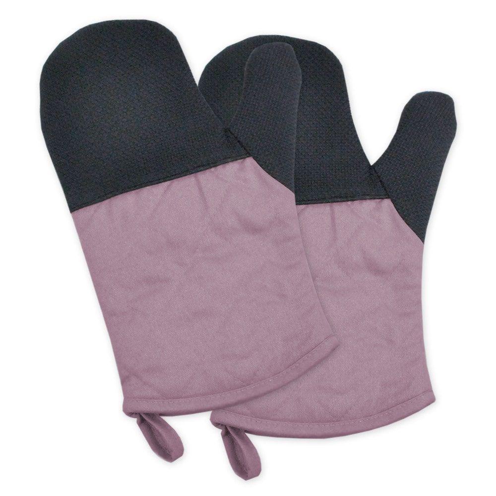 Neoprene Oven Mitt Set (Mauve), Pink (Cotton)