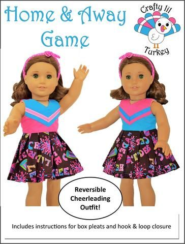Home and Away Game 18 Doll Clothes Pattern #18inchcheerleaderclothes