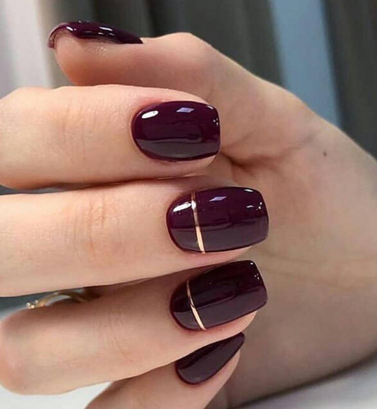 100 Trendy Stunning Manicure Ideas For Short Acrylic Nails Design Short Acrylic Nails Designs Square Nail Designs Burgundy Nails