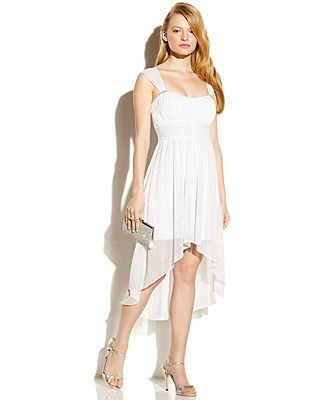 Pretty White High Low Dresses for Juniors