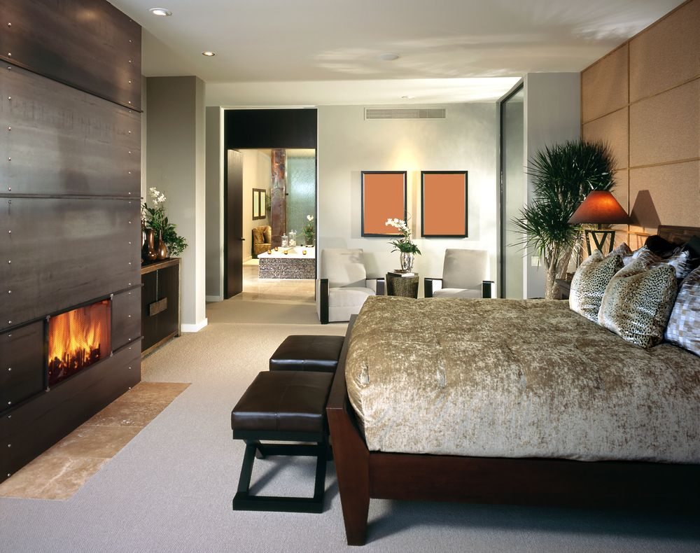 modern master bedroom with fireplace. 115 Master Bedroom With A Fireplaces For 2018 Modern Fireplace D