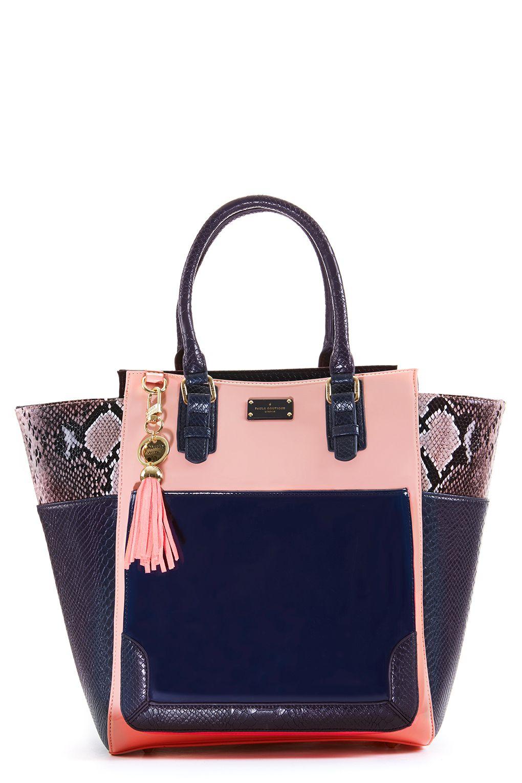 99af4bf84f Melissa Oversized Tote Bag Light Pink and Snake