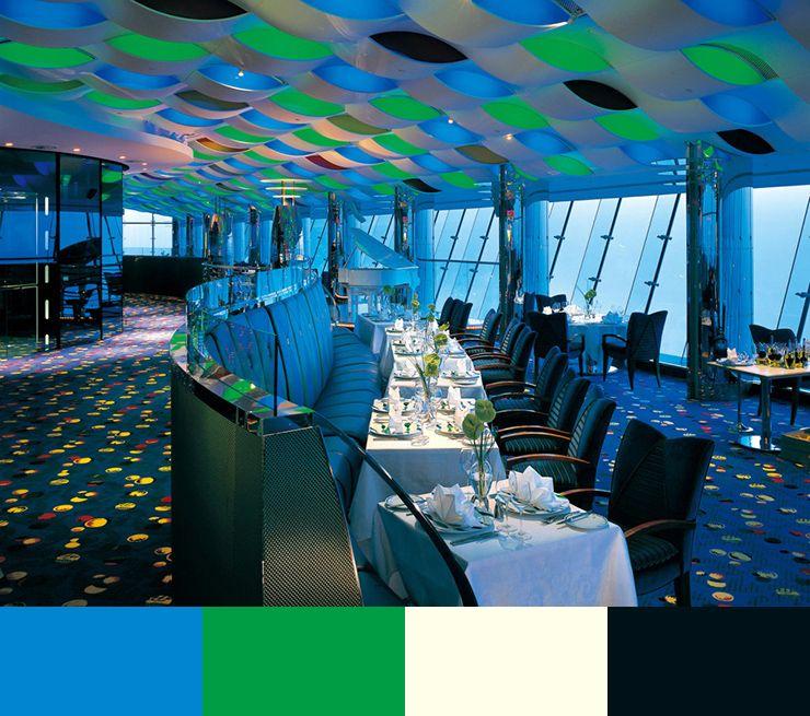 10 restaurant interior design color schemes10 10 restaurant interior - Blue Restaurant Design