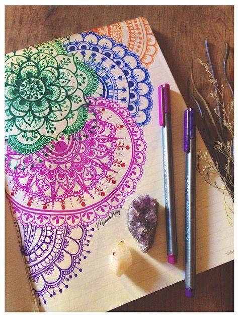 art colorful drawing mandalas style mandala in 2018