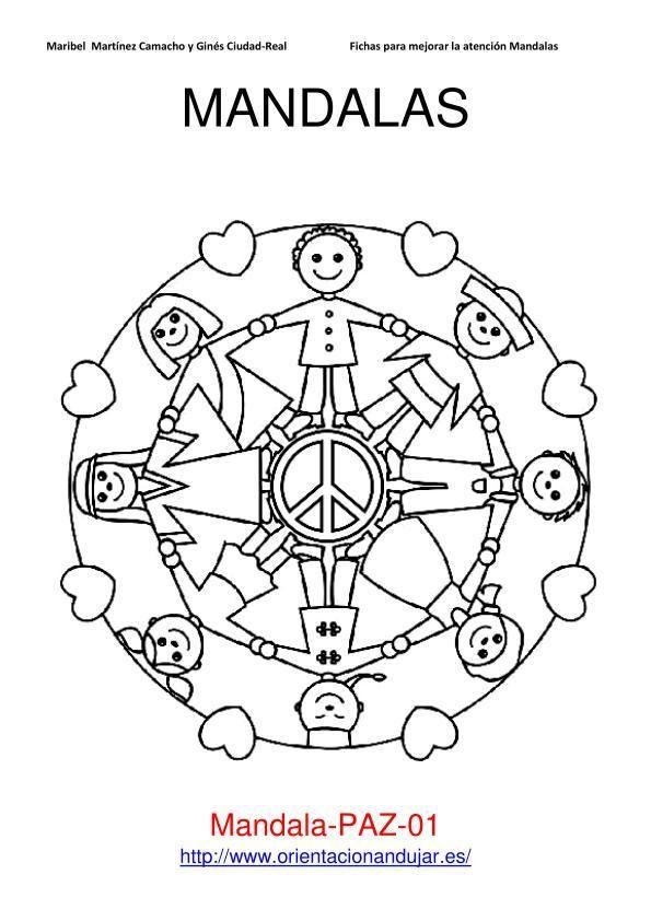 IMAGEN MANDALAS PAZ_01 | E.I | Mandalas, Mandalas para niños y Dia
