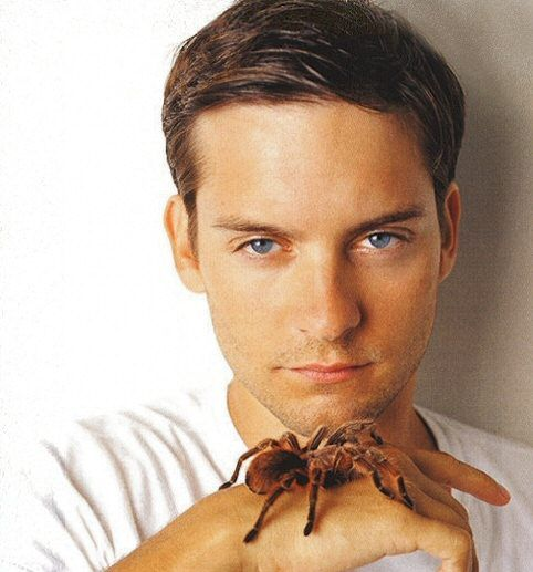 I never really though Tobey Maguire was sexy, until he played Peter Parker... and I've ALWAYS loved Peter Parker!