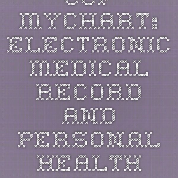 CCF MyChart Electronic Medical Record and Personal Health