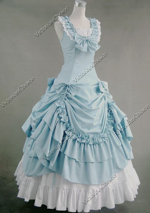 Victorian Southern Belle Old West Paisley Floral Gown Dress Theater Clothing 208