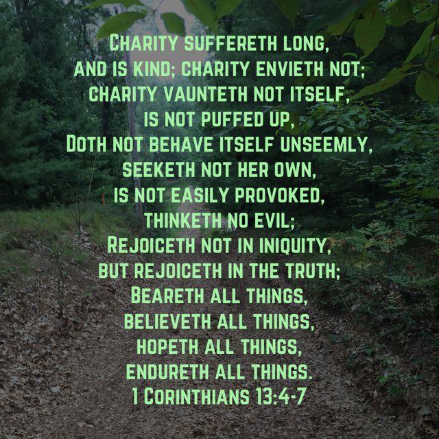 1 Corinthians 1347 Bible scriptures, King james
