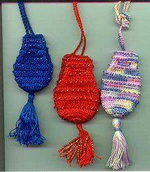 Ann's Beaded Crochet Amulet Bags  www.allfreecroche...