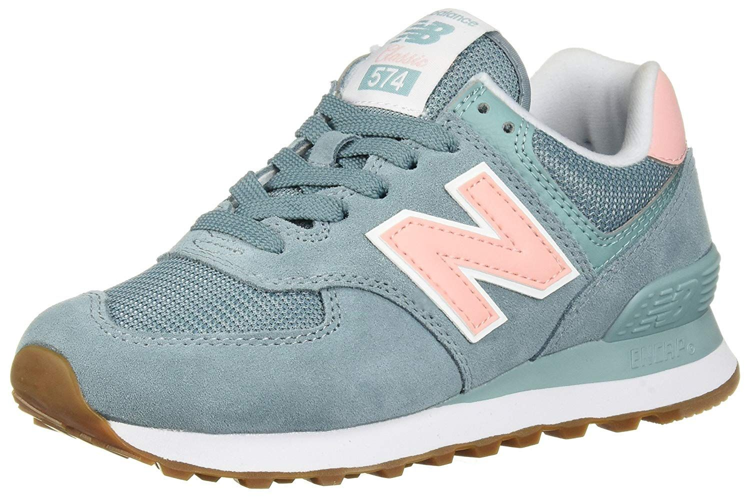 Amazon.com | New Balance Women's Iconic 574 Sneaker, White ...
