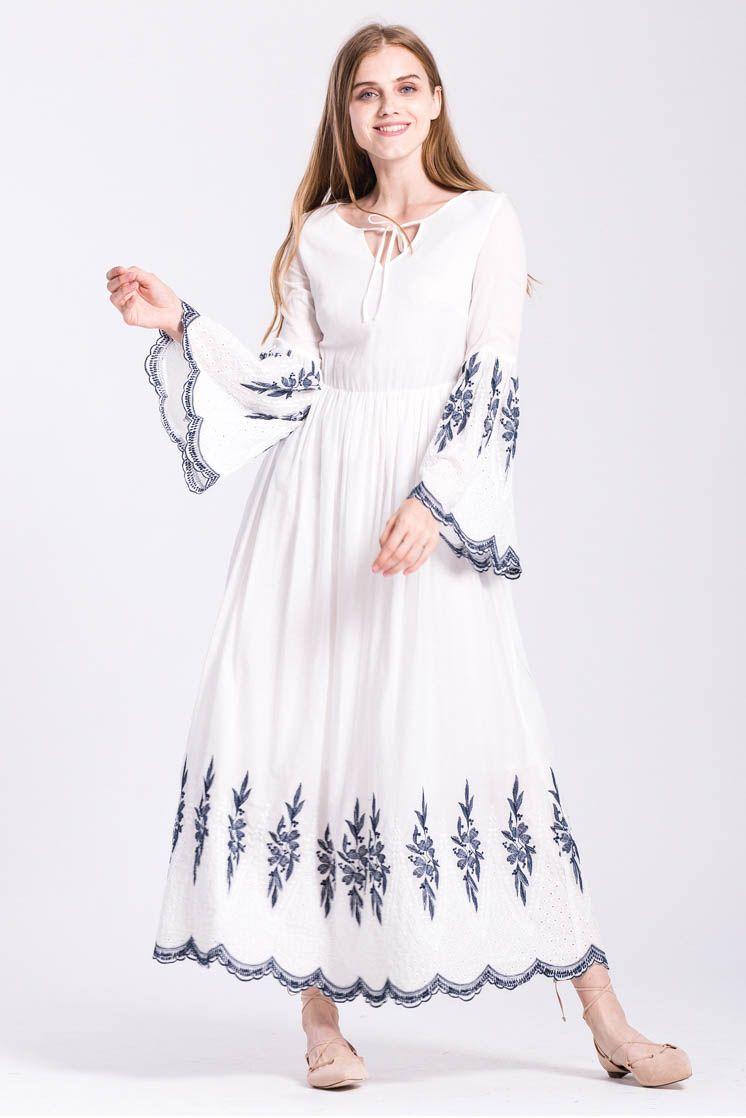 Anita embroidered maxi dress clothing ideals pinterest dresses