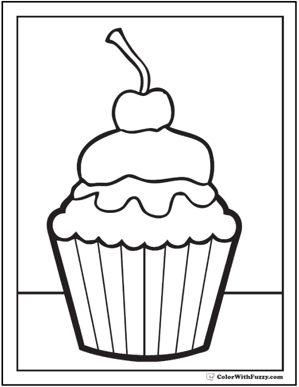 20 Cake Coloring Pages Customize Pdf Printables Cupcake Coloring Pages Happy Birthday Coloring Pages Birthday Coloring Pages