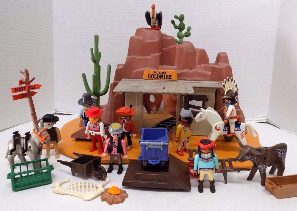 playmobil goldmine play set wild west western 5246 cowboys. Black Bedroom Furniture Sets. Home Design Ideas