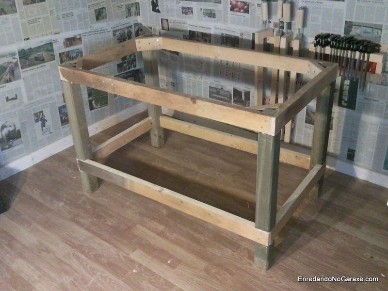 C mo hacer una estructura de mesa resistente para hacer - Mesa de taller ...