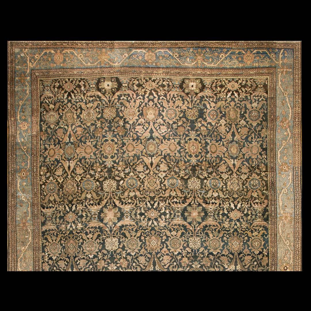 Malayer Rug - 18937 | Persian Informal 11' 10'' x 16' 6'' | Navy, Origin Persia…