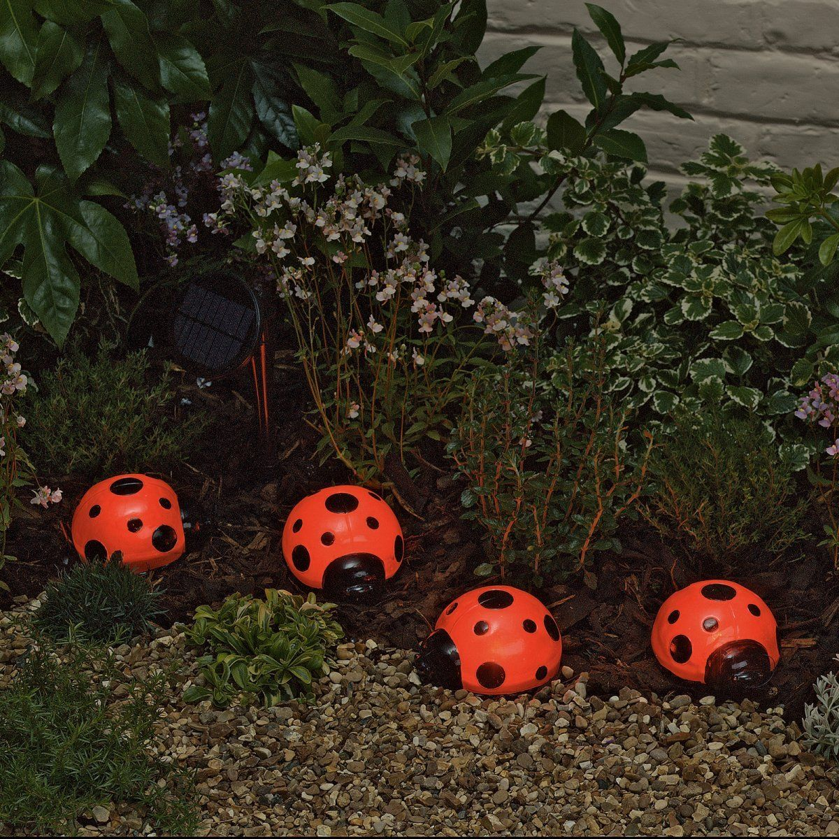Superb Smart Solar Ladybug Solar Lights   Set Of 4   Ladybugs Are Ideal For  Controlling Aphids In Your Garden, Bringing Luck To Your Future, And Now  Lighting Up ...