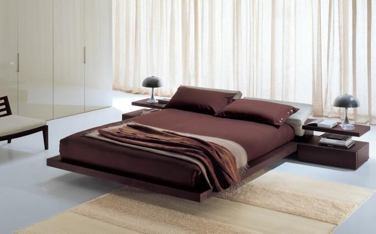 Japanische Betten für modernes Interieur Schlafzimmer