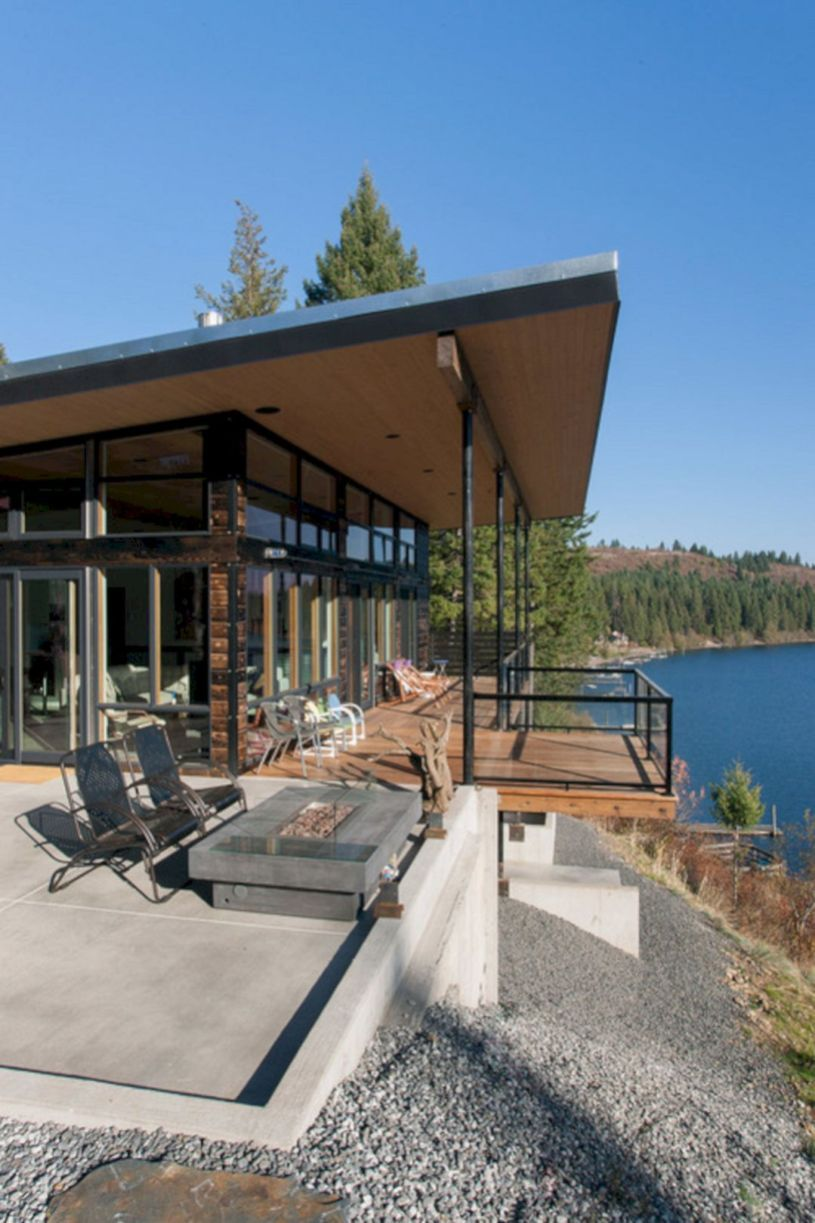 The Best Modern Tiny House Design Small Homes Inspirations No 59 Modern Lake House Lake Houses Exterior Modern Tiny House