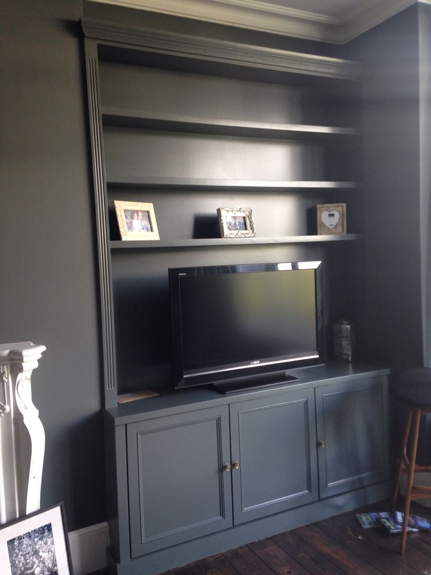 Handmade Grey Painted Victorian Style Alcove Unit Www Vertexcarpentry Co Uk Alcove Ideas Living Room Victorian Living Room Built In Shelves Living Room